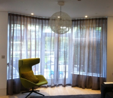 Cartridge Pleat Curtains Fitted to a Silent Gliss Track 3840 ...