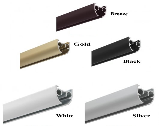 Silent Gliss 3840 Track Available in White, Gold, Bronze, Black and Silver. u00ab Curtain Tracks and ...