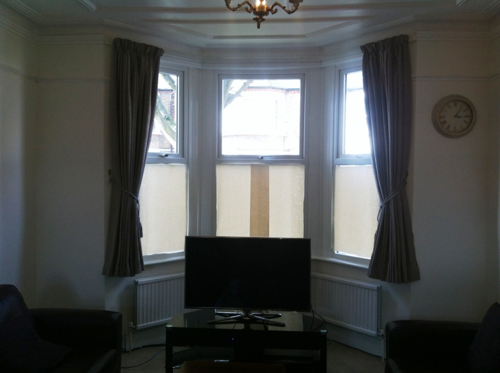 Bay Window Track And Curtain Fitted In Hanwell 171 Curtain