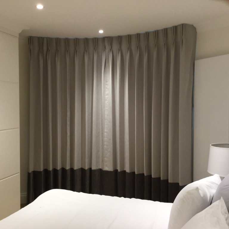 Silent Gliss 3900 Track Fitted In Chelsea London Curtain